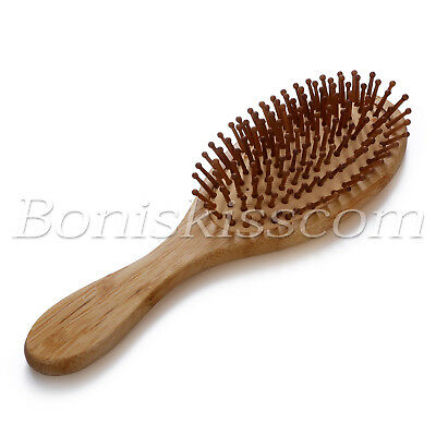 Wooden Natural Bamboo Anti-static Vent Hair Brush Comb Wood Scalp Spa Massage