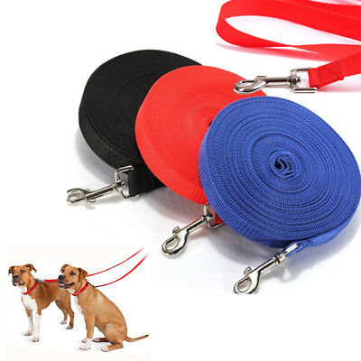 Hot Dog Pet Puppy Training Leads 6FT,15FT,20FT,30FT,50FT,100FT Long AL UK