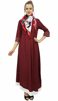Bimba Designer Rayon Blouse Kurta Indian Women Maroon Kurti Dress With Scarf