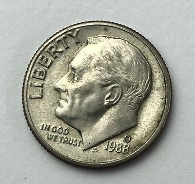 Dated : 1988 - American Coin - Roosevelt - One Dime - United States of America