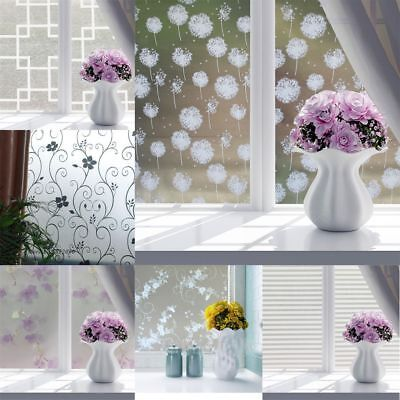Flower Glass Frosted Bathroom window Decal Self Adhesive Film Wall Sticker