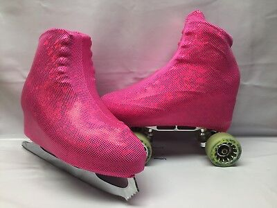 Pink Shattered Glass Boot Covers for RollerSkates and Ice Skates  S,M,L
