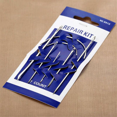 7pcs/Set Hand Repair Upholstery Leather Carpet Curved Sewing Needle Crochet Hook
