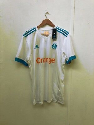 adidas Mens Marseille FC 17/18 Home Shirt - Various Sizes + Players - White -New