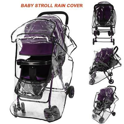 PVC Stroller Rain Cover Universal Waterproof Pram Baby Pushchair Dust Shield