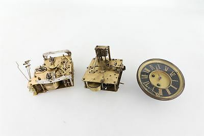 Lot of 3 x Vintage Hand-Wind Mantle Clock Mixed Movements SPARES&REPAIRS
