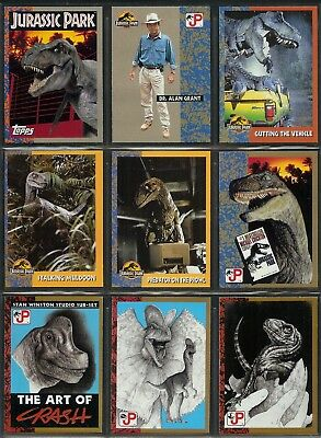Jurassic Park The Movie - A Complete Topps 1993 Trade Card Set + Sticker Set