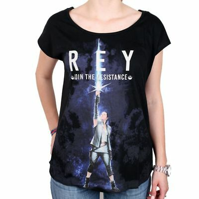Tshirt Star Wars VIII Femme - Rey Join the resistance
