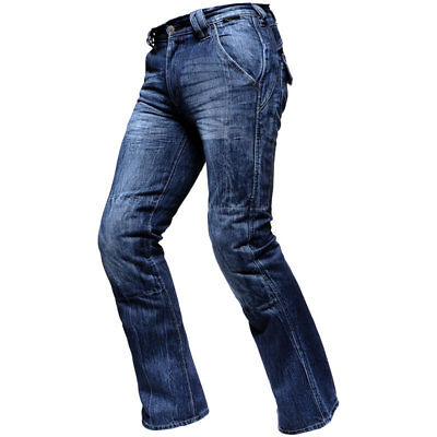 Route One 004 Manhattan Mens Blue Motorcycle Motorbike Jeans 38 Regular