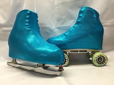 Electric Blue Fog  Boot Covers for RollerSkates and Ice Skates  S,M