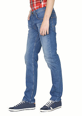 Mens Lee Powell Authentic Blue Slim Straight Stretch Jeans RRP£80 (Seconds) L58