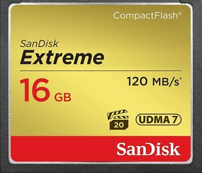 SanDisk 16GB Extreme CF Compact Flash UDMA Memory Card 120MB/s 800x Camera