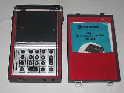 Vintage Sanyo ICC-82D - Electronic Calculator - Nixie - Ghostbusters - Rare