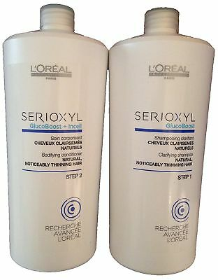 Loreal SERIOXYL Hair Loss System Thickening Shampoo and Conditioner For Norma...