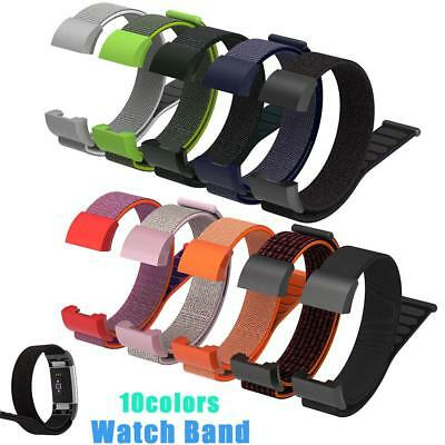 UK Replacement Watch Strap Band Nylon Wristband Bracelet For FitBit Charge 2