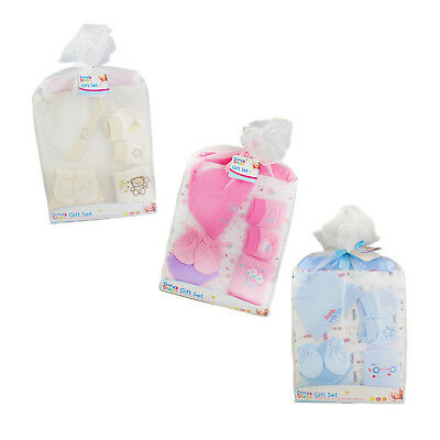 Newborn Baby Gift Set Unisex Wash Blanket Booties Blanket Shower Bibs Present