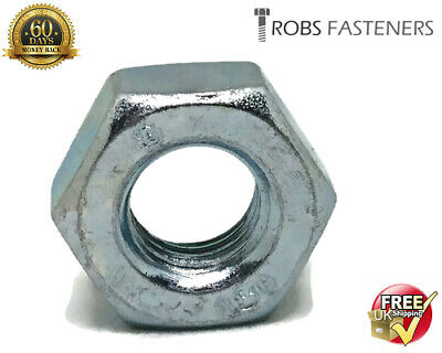 6mm M6 A2 stainless steel hex full nuts hexagon nut pack 10 25 50DIN 934 metric