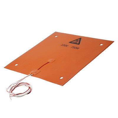 310*310mm 750W 220V Silicone Rubber Heater Pad Heating Mat for 3D Printer
