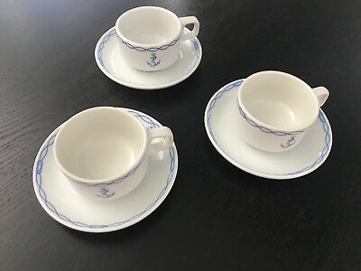 Lot  3 Tasses A Cafe : Marine Nationale - Cable Ancre