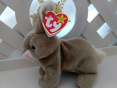 TY Beanie Baby ~ NIBBLY Easter Bunny Rabbit ~ NEW with Tags Retired & Tag Error