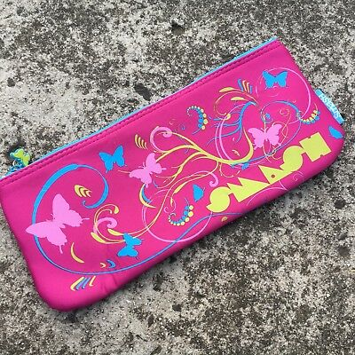 "SMASH ""Hot Pink"" Butterflies Girl's Neoprene Pencil Case Stationery Bag Pouch"