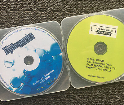 2x HYDROPONICS Gardening Information Reference Computer CD-ROMS