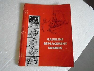 Rare Copyright 1961 General Motors GM Gasoline Replacement Engines book 6cyl-V12