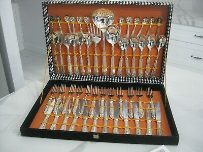 Vintage Silver Plated Kings Design Italian Cutlery Set 51 Pieces