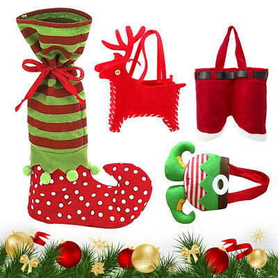 Christmas Socks Tableware Ornament Pupazzo di neve Holiday Party Home Decor 04