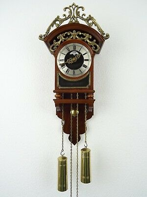 Sallander Warmink Dutch Wall Clock Vintage Antique (Zaanse WUBA Junghans Era)