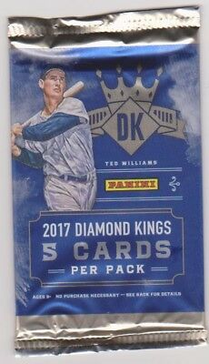 2017 Panini Diamond Kings 1 Unopened Pack Of Baseball Cards