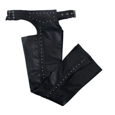 Hot Leathers Womens Size Medium Studded Top Grain Leather Chaps