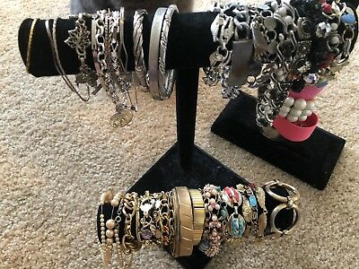 Vintage Bracelets (lot of 70) over 3LBS Untested Jewels, Casual to Dressy Styles