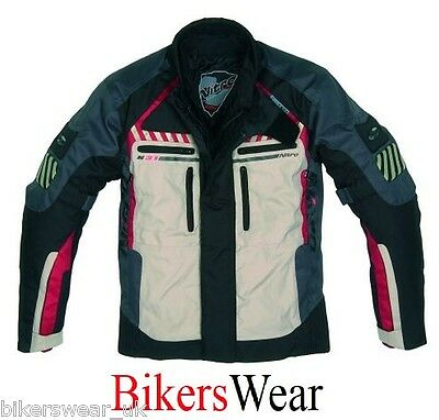 Nitro N31 Red Waterproof Breathable Motorcycle Textile Jacket Size  L Only