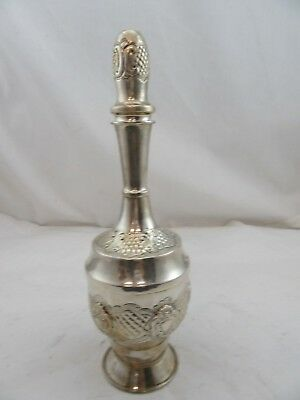 Sterling Silver 925 Liquor Wine Bottle Pitcher Hand Chased Design 158 GRAMS Used