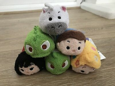 Disney Store Tangled Tsum Tsum Full Set with Tags
