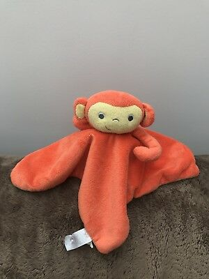 The Gro Company Mikey Monkey Orange Comforter Blanket Blankie Soother Soft toy