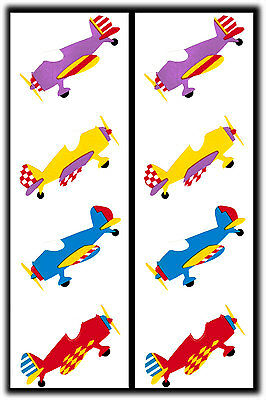 Mrs. Grossman's Vintage Airplanes Planes Stickers Lot 2 Strips 1988