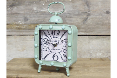 Decorative Clock Retro Vintage Small desk Mantel Clock Square rustic