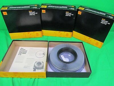 Lot of 4 Kodak Carousel Transvue 140 Slide Tray Pre Owned in awesome condition !