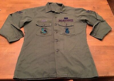 US Air Force Military Fatigue -MED- Patches Long Sleeves