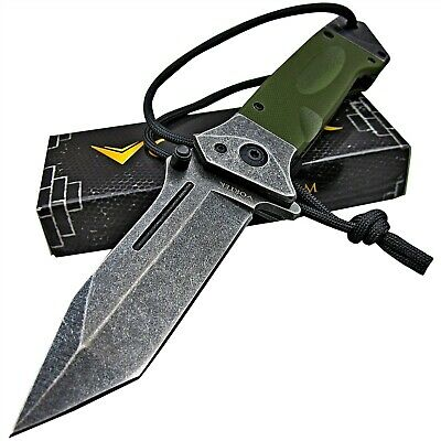 TACTICAL HD Spring Assisted Open OD Green G10 TANTO LMF Folding Pocket Knife NEW