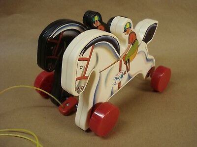 """Fisher Price """"prancing Horses"""" - #6590 - In Box - Excellent Condition !!!"""