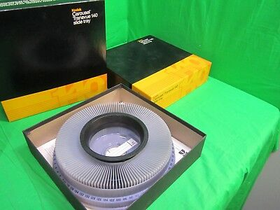 Lot of 2 Kodak Carousel Transvue 140 Slide Tray Pre Owned in awesome condition !