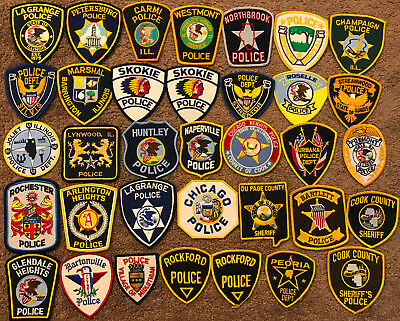 35 Illinois IL Police Sheriff Patches - 35 PATCHES