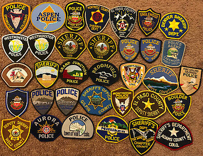 34 Colorado CO Police Sheriff Patches - 34 PATCHES