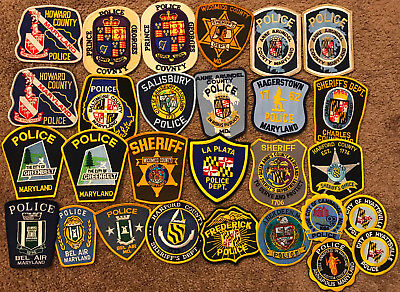 28 Maryland MD Police Sheriff Patches - 28 PATCHES