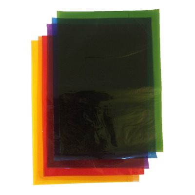 48 A4 Assorted Coloured Cellophane Folded Sheets Acid Free Film Tint Crafts Wrap