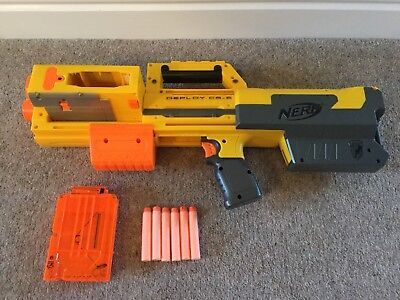 Nerf N-Strike Deploy CS-6 Gun With Magazine And 6 Darts - Excellent Condition