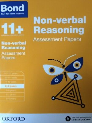 Bond 11+ Plus Non-verbal Reasoning Assessment Papers Age 8-9 years Book 1